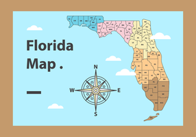 Gratis Florida Map Vector