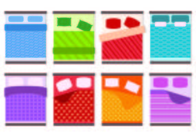 Set Of Bedding Icons