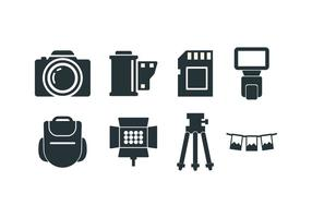 Icono de vector de herramientas de fotografía