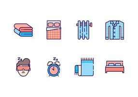 Free Bedroom Icons vector