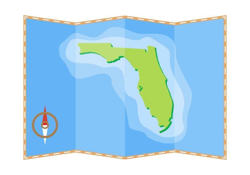 Free Beautiful Florida Map Vector Download Free Vector Art Stock