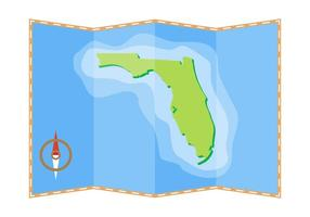 Free Schöne Florida Map Vector