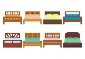 Bedding Vector Icons Set