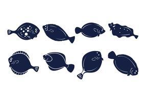 Free Flounder Fish Icons Vektor