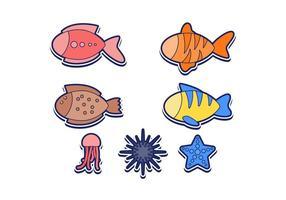 Vectores libres de los pescados del océano