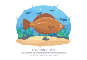 Flounder Fish Vector Illustration