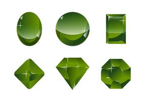 Grüner Serpentine Stein Vektor