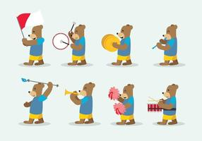 Bear Marching Band Vector