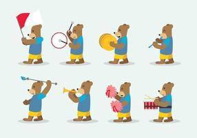 Vector de la banda de marcha del oso