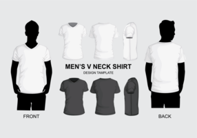 Men's V Neck Shirt Template