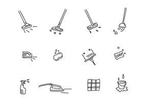Vettore degli strumenti di pulizia