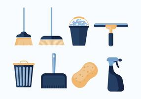 Free Cleaning Tools Vector Icon