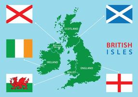 British Isles and Republic of Ireland Map vector