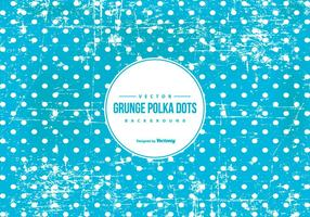 Blue Grunge Polka Dot Background vector
