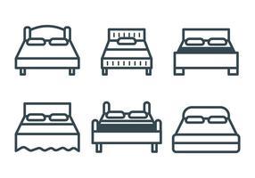 Icônes de vecteur de literie