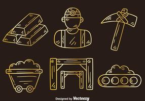 Sketch Gold Rush Element Vector