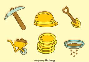 Hand Drawn Gold Rush Element Vector