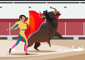 Bull Fighter Vector