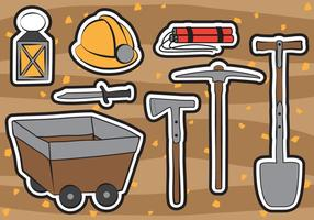 Gold Miner Vector Set
