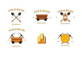 Gold Rush Vector Emblems