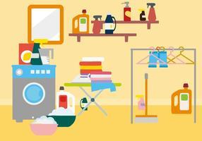 Vector libre de la habitación del lavadero