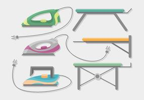 Ironing Board Vector Set