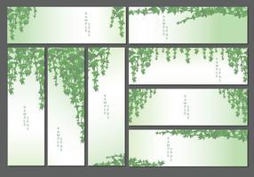 Giftig murgröna mall vektor