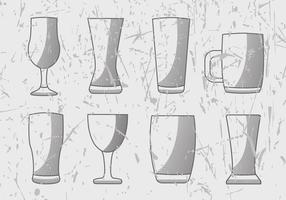 Free Beer Glass Engrave Vector