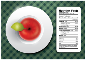 Vector de Apple Nutrition Facts