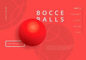 Bocce Ball Wallpaper Illustration