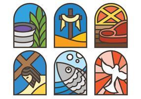 Ícones do vetor da Quaresma