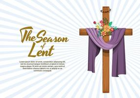 The Season Of Lent Vector Illustration