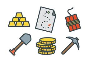 Gold Rush Vector Icons