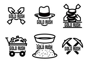 Gold rush vector set