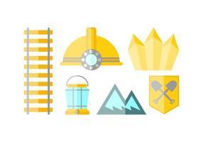 Vectores libres libres de la precipitación del oro