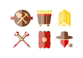 Free Outstanding Gold Rush Vectors