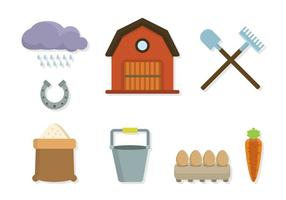 Vecteurs agricoles plats