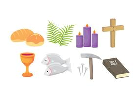 Lent Icons vector