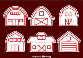 Red-barn-line-vector