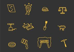Gold Mine Vector Icons