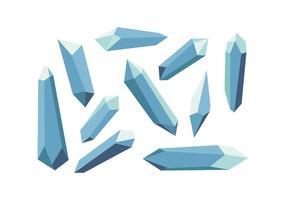 Vector de forma livre de cristais