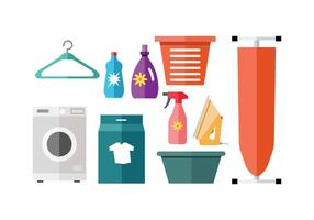 Free Laundry Colorful Icon Vector