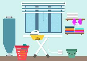 Laundry And Ironing Vector