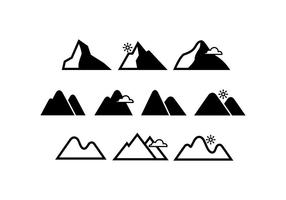 Free Mountains Icon Vector