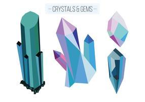 Vector de cristais e gemas