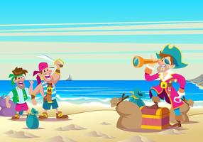 Pirate Day Banner Vector