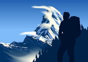 Matterhorn toppfri vektor