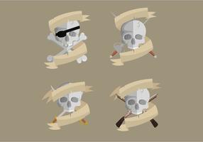 Piratbanners Vector Collection