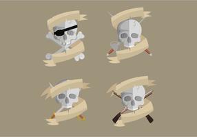 Colección de vector de la bandera del pirata