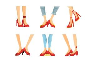 Ruby Slippers Collection Vector Illustration